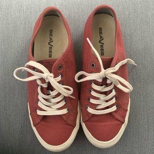 SeaVees Red Canvas Sneakers